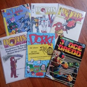 6 Boris comic books